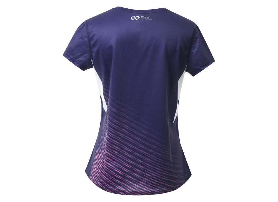 TAT-010 WOMEN'S T-SHIRTS ウィメンズランニングTシャツ (25)ネイビー