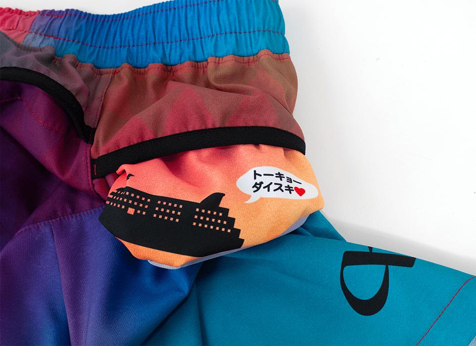 TRP-20TKOM 20TOKYO LIMITED MEN`S6POCKETS SHORT PANTS 2020東京限定メンズ6ポケットBOXパンツ (4020)ピンク/ブルー