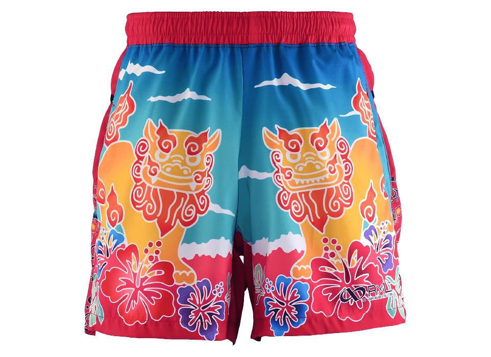TRP20OKNM7 20OKINAWA LIMITED MEN'S6POCKETS SHORT PANTS 2020沖縄シーサーメンズ6ポケットパンツ (41)ベリーピンク