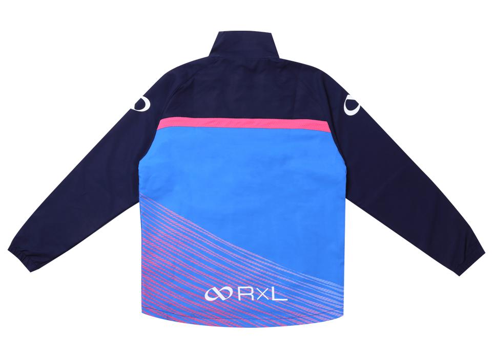 TRS-003S ライトトレーニングジャケット (2520)ネイビー/ブルー
